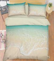 3D Surf Beach Sea 57 Bed Pillowcases Quilt Duvet Cover Set Single King UK Summer