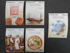 2005 malaysia china 600th years relationship 5v marginal stamp set error & rare