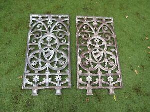 2 x Cast iron fence pieces
