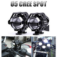 2PCS 125W Motorcycle Motorbike CREE U5 LED Driving Head Spot Light Headlight