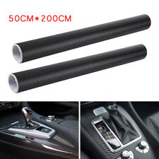 2PCS Roll 50x200CM 3D Carbon Fiber SUV Foil Film Wrap Sticker Decals Waterproof
