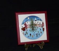 Villeroy und Boch V&B Naiv Naif Winter Weihnacht Platte Untersetzer 15 x 15 cm