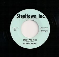 NORTHERN SOUL 45 RICHARD BROWN SWEET AND KIND DON'T LISTEN TO THE G'VINE REISSUE