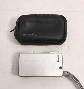 Vintage Minolta 16 Subminiature Spy Camera w/ Case