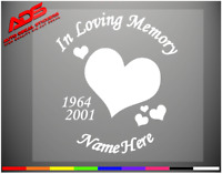 Loving Memory Decal Heart Window Car Sticker Vinyl Personalized Wall Truck #416