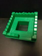 Lincoln Logs Roof Green Square Plastic Tower Replacement 00006000  Part Wild West Ranch