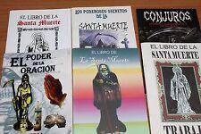 #6 JUEGO 6 BOOKS SANTA MUERTE libros trabajos rituales oraciones balsamos conjur