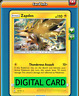 Zapdos - 40/181 Team Up PTCGO Online Digital Card