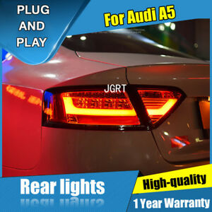 For Audi A5 Dark / Red LED Rear Lamps Assembly LED Tail Lights 2008-2016