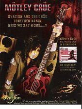 PRINT AD Ovation Guitars Motley Crue Red,White & Crue