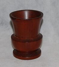Antique Lathe Turned Mahogany Wood Classical Urn