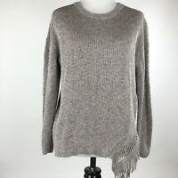 Nic + Zoe Women Taupe Knit Long Sleeve Sweater sz PP