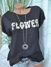 40 bis 54 schwarz mit Schößche 127 Shirt Tunika Damen Jette Gr