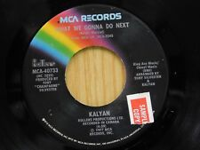 Kalyan 45 What Are We Gonna Do Next / Nice 'n Slow - MCA calypso/soul