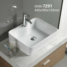 Bathroom Counter Top Vessel Rectangular Ceramic Wash Basin Sink 480mm X  370mm