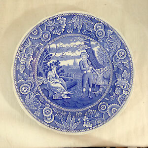 Spode Blue Room Collection Dinner Plate - WOODMAN - Scalloped Edge