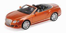 MINICHAMPS 2013 Bentley Continental GT Speed Cabrio Dark Orange LE 999pcs 1:18