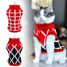 Cats Sweater Cotton Knitted Pet Puppy Kitten Knitwear Cat Sweater Hoodie Vest