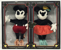 Disney Limited Edition Mickey Mouse and Minnie Mouse Collectible Plush Dolls