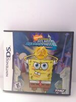 SpongeBob's Atlantis SquarePantis (Nintendo DS, 2007) Complete Fast Shipping
