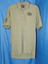 HARLEY DAVIDSON GRAY CHECKERED POLO GOLF SHIRT SZ.M  (SAN DIEGO CALIFORNIA) NWOT