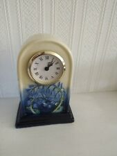 CERAMIC QUARTZ CLOCK, OLD TUPTON WARE HAND PAINTED BY JEANNE McDOUGALL