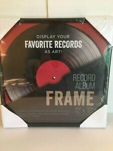 Black Vinyl Record Album Glass Frame 12 x 12 LPs Wall Display Sealed NEW