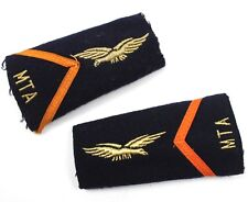 PAIR of FRENCH ARMY / AIR FORCE RANK SLIDES BADGES MTA