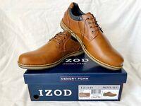 IZOD Men's CAL Memory Foam Brown Casual Lace Up Oxford Shoes Size 11.5M - NIB