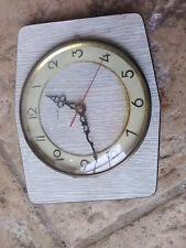 "FONCTIONNE Pendule Horloge Quartz Murale ""VEDETTE"" Made IN France rétro vintage"