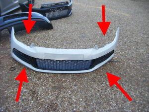 VW SCIROCCO white GENUINE FRONT BUMPER COMPLETE ORIGINAL 2008 - 2014 PRISTINE