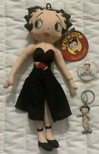 1999 Betty Boop Collection Doll With Hang Tag, Matching Button & 2003 Keychain