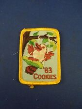 Vintage Girl Scouts 1983 Cookies Girl Scout Cookies Embroidered Iron On Patch