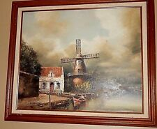Dutch Windmill Painting. Original Oil Painting. Mint Condition. Amsterdam