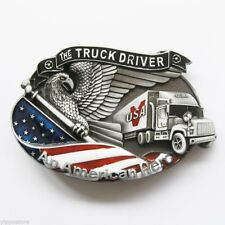 The Truck Driver An American Hero Metal Belt Buckle
