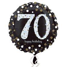 Oro Frizzante Celebrazione 70° Happy Birthday Standard Palloncino Rivestito