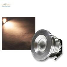 FARETTO DA INCASSO 3W LED BIANCO CALDO 12V DC punti luce lampada soffitto
