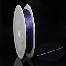 1 Rouleau Fil d'Acier Violet Bijoux Création 0.38mm B29967