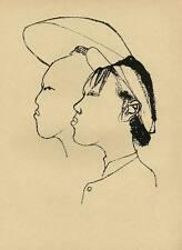 CHINA 1950 - Gustav SEITZ  STUDENTEN AUF DEM LANDE