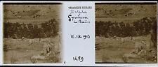 GRECE DELPHES STEREO 45x107mm Plaque de verre positive, 1913