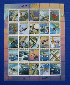 Marshall Islands (#617) 1996 Worlds Legendary Biplanes MNH sheet