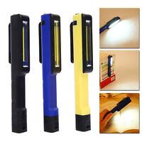 COB LED Pocket Pen Torches Magnetic Inspection Lamp Flashlight Light Foldable UK