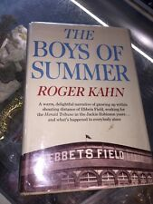 1972-THE BOYS OF SUMMER-EBBETS FIELD-BASEBALL MEMOIR-R.KAHN