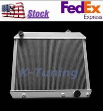 Fit 1963 1964 1965 1966 Chevy Truck C10 C20 C30 3 Row US Aluminum Radiator, V8