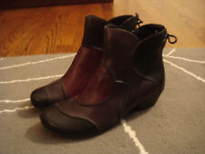 REMONTE multi colored leather ankle boots size 37 ( 6.5-7 )