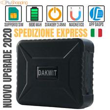 LOCALIZZATORE ANTIFURTO SATELLITARE GPS TRACKER GSM GPRS AUTO MOTO GPS 6600 MAH