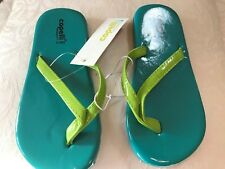 7fd2d67e5cb1 NWT CAPELLI Kids Flip Flop Sandals Girls Size 12-13 Teal   Lime