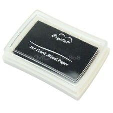 Non-toxic Black Ink Pad Inkpad Stamp Finger Print Albums Card-making Craft DIY