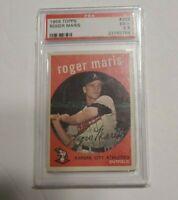 1959 Topps Baseball #202 Roger Maris PSA 5.5