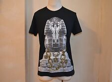 VERSACE JEANS BLACK EGYPTIAN PHARAON TUT GOLD CHAINS LOGO PRINT T SHIRT 52 L 16